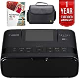 Canon SELPHY CP1300 Wireless Compact Photo Printer with AirPrint Black (2234C001) with Corel Paint Pro x9, 1 Year Extended Warranty & Xit Compact Deluxe Gadget Bag