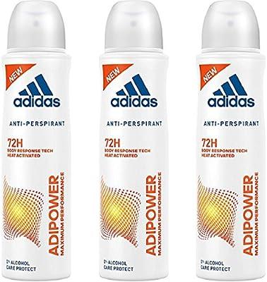 Adidas Adipower, Desodorante Spray Mujer, 150 ml, pack de 3 ...