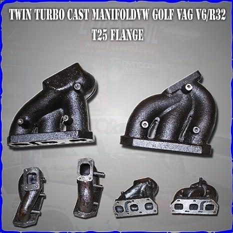 Twin Turbo fundido colector VW Golf VAG V6/R32 T25 brida: Amazon.es: Coche y moto