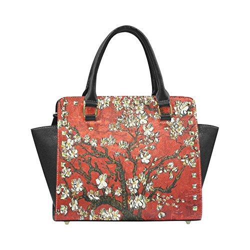 Chuangdian Flower Custom Rivet Shoulder Handbag