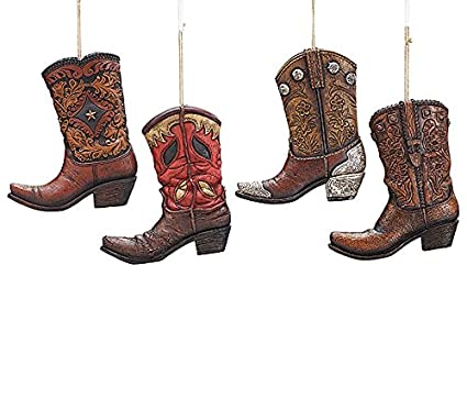 Western Christmas Tree Decorations.Large Western Cowboy Boot Christmas Tree Ornament Single