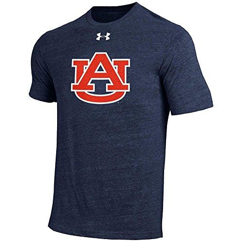 Elite Fan Shop Auburn Tigers TriBlend Tshirt Navy - L