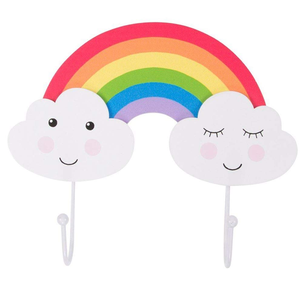Carousel Home and Gifts Baby Nursery Childs Bedroom Playroom Cloud Coat Hanger Kids Rainbow Wall Hook