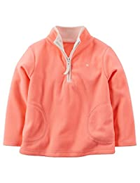 Carter's Girl's Pink Half Zip Fleece Pullover (9 Months)