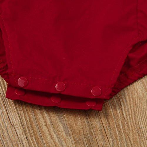 Mono Bebé, Amlaiworld Ropa Bebé Niñas Imprimir Vendaje Mono Conjuntos 0-18 Mes Rojo