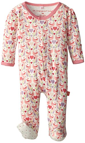 Magnificent Baby Baby-Girls Footie,Love Birds,6-9 Months by Magnificent Baby (Image #2)