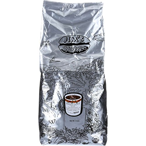 Jim's Organic Coffee, Sweet Love Blend, 5 Pound by Jim's Organic Coffee