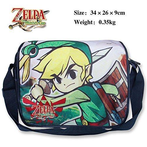 Legend of Zelda Polyester Shoulder Shoulder Shoulder Bag Satchel Schoolbags Cartoon Bag Messenger Bag by Zelda 11d246
