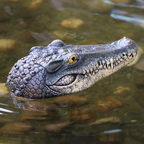 Ecosin Alligator Head Decoy & Pond Float,Floating Crocodile Head Water Decoy Garden Pond Art Decor for Goose Control New (Multicolor)