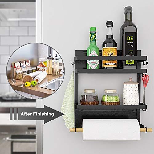 Lemecima Kitchen Rack Magnetic Refrigerator Storage Organizer, Fridge Holder Strong Magnet Rustproof