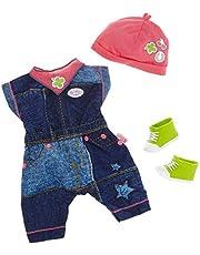 BABY born Deluxe Jeans Outfit 2 ass. Juego de ropita para muñeca - Accesorios para muñecas (Juego de ropita para muñeca, 3 año(s), Multicolor, BABY born, Chica, 43 cm) modelos surtidos - 1 unidad