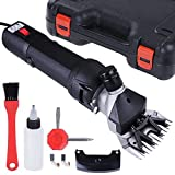 Yescom 380W Farm Electric Goat Clippers Sheep Shears Hair Fur Shearing Clipping w/ Storage Case Black