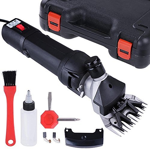 Yescom 380W Farm Electric Goat Clippers Sheep Shears Hair Fur Shearing Clipping w/ Storage Case Black by Yescom