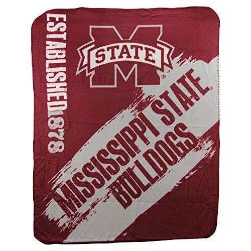 The Northwest Company NCAA Collegiate School Logo Fleece Blanket (Mississippi State -