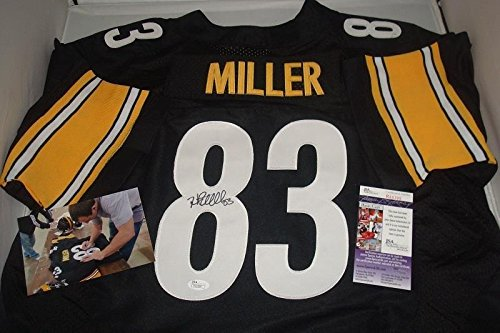 Heath Miller Autographed Signed Autograph Pittsburgh Steelers Jersey - JSA Authentic Withsigning Photo -Pro Bowler