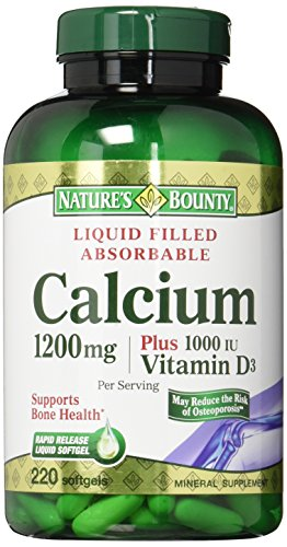 Cheap Nature's Bounty Absorbable Calcium Plus 1000 IU Vitamin D3 — 1200 mg – 200 Softgels