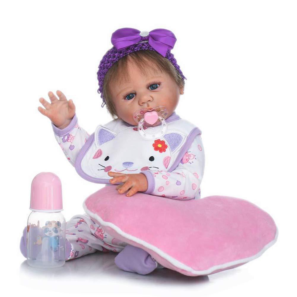 IIWOJ Wiedergeborenes Baby Doll Simulation Cute 50cm Mädchen Silikon Puppe Fotografie Requisiten