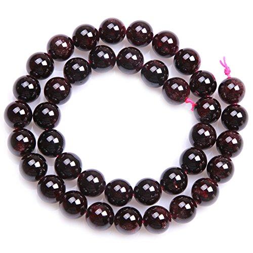 "Garnet Beads for Jewelry Making Natural Gemstone Semi Precious 10mm Round 15"" JOE FOREMAN"