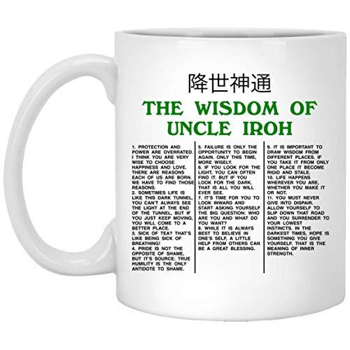 The Wisdom Of Uncle Iroh The Last Ceramic Coffee Mug - Travel Mug - Beer Stein - Stainless Water Bottle Airbender (Avatar The Last Mug)