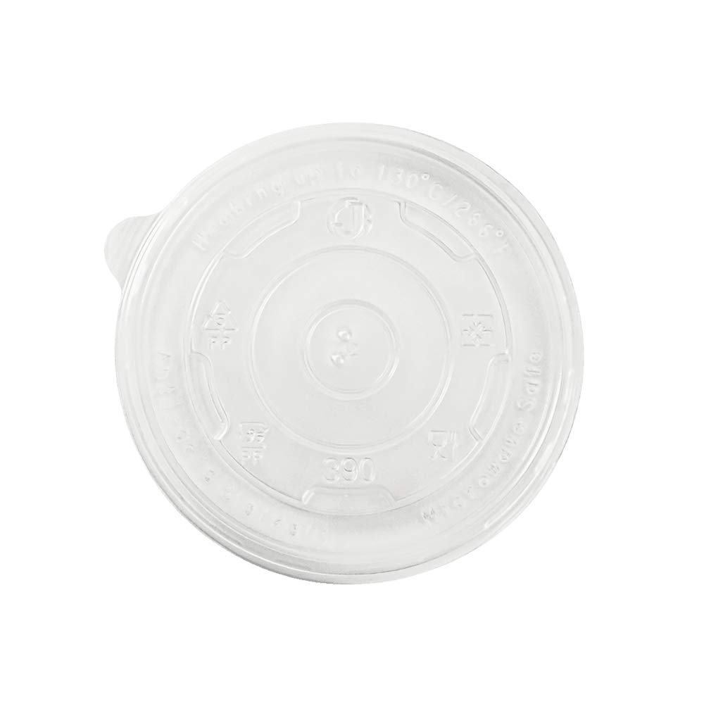 Karat C-KDL100-PP 12 oz PP Food Container Flat Lids (Case of 1000)