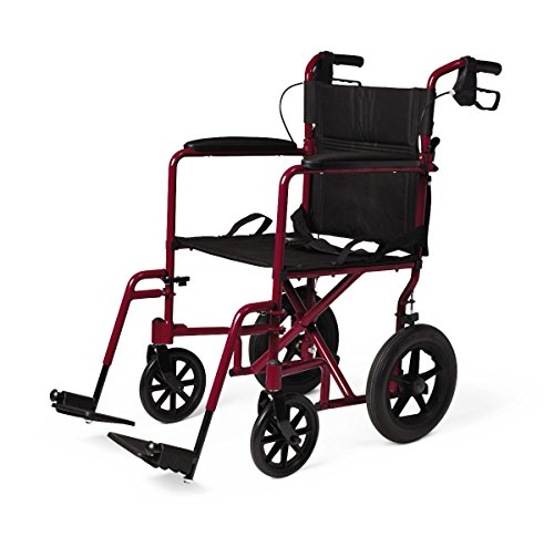 (Premium Deluxe Transport Chair Wheelchair with 12