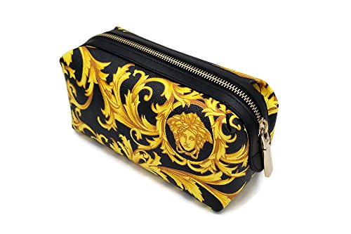 Versace Medusa Logo Cosmetic Case Toiletry Pouch Clutch Bag by Gianni