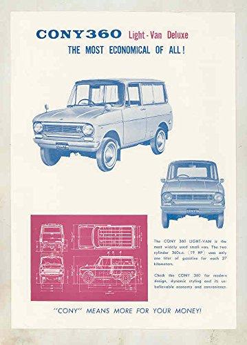1965 Cony 360 Light Van Truck Brochure Microcar