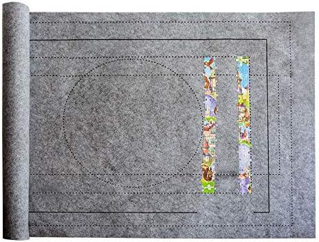 Gray Surface antid/érapante jusqu/à 1500 pi/èces Accessoire de Puzzle de Stockage DeeCozy Jigsaw Puzzle Board Tapis de Puzzle Portable pour Le Stockage de Puzzle