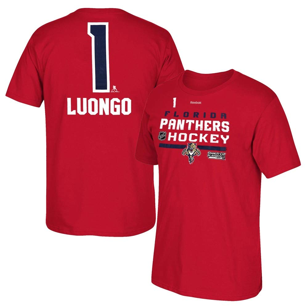 Amazon.com   adidas Roberto Luongo Reebok Florida Panthers Stanley Cup  Playoff Jersey T-Shirt Men s   Sports   Outdoors c35d698ce