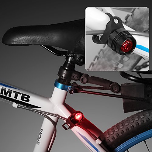 iSolem Rechargeable LED Bike Light Set, 3-Mode Bicycle Headlight and Taillight Combinations, IP65 Waterproof Front and Rear Cycling safety Flashlight - Easy to Install for Kids and Adults by iSolem (Image #6)
