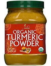 Jiva Organic Turmeric Powder - 1 Pound Jar 100% Raw With Tumeric Powdered Organic, Turmeric Curcumin Powder - Lab Tested For Purity - Origins from India