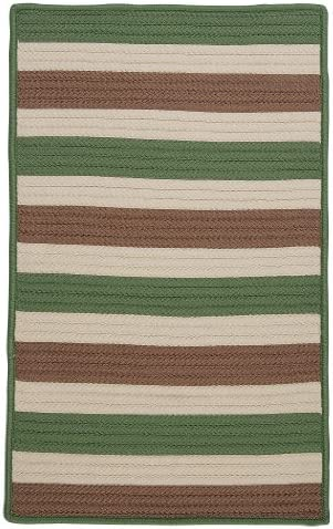 Stripe It Rug, 12 by 15-Feet, Moss-Stone