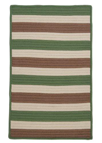 Stripe It Rug, 4 by 6-Feet, Moss-Stone