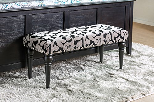 - 247SHOPATHOME IDF-BN6660 Pama Bench, Black & White