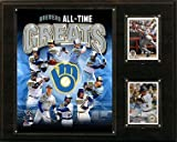 MLB Milwaukee Brewers 12x15-Inch All Time Greats Photo Plaque