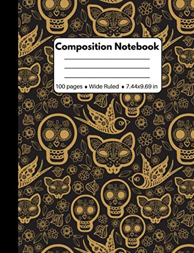 Halloween Graph Art (Composition Notebook: Halloween Skull Pattern Composition Journal Wide Ruled: 100 Pages Book for Kids Teens School Students And)