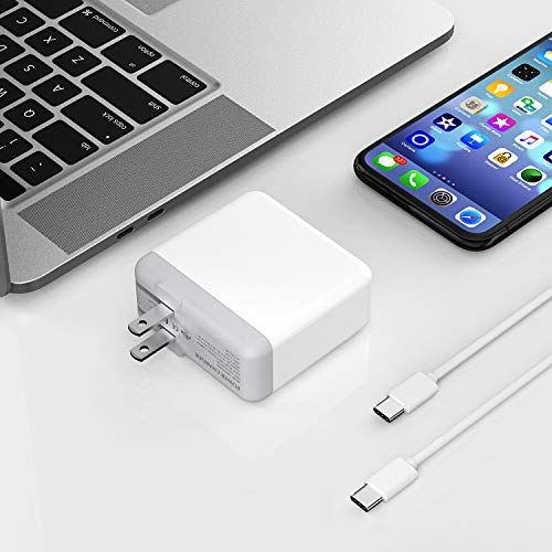 Onforu 61W USB C Power Adapter, UL Listed Power Delivery Wall Charger, Fast Charger for MacBook Pro Thunderbolt Port, iPad Pro, USB Type C Charging Laptop, Smartphone, etc (USB C-C Cable Included) by Onforu (Image #4)