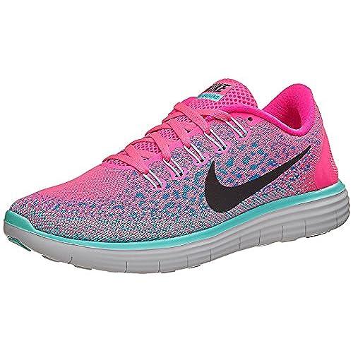 Nike WoHerren Free RN Distance Running Shoe Hyper Pink, Black