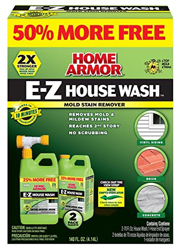 Home Armor FG514B EZ House Wash Hose End, 70-Ounce, 2-Pack, 2 - Remover Stain Wash Easy
