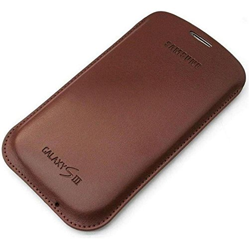 Samsung Galaxy S3 Leather Pouch Case - Chestnut Brown