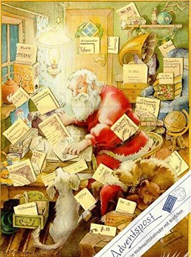 Adventspost: Adventkalender mit 24 Briefchen