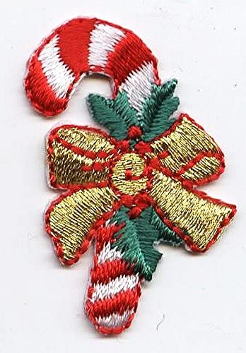 CHRISTMAS-CANDY CANE IRON ON PATCH