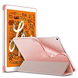 ESR Rebound Slim Smart Case Specially Designed for iPad Mini 5 7.9' 2019, Flexible TPU Back Cover with Rubberized Coating, Auto Sleep/Wake and Viewing/Typing Stand for iPad Mini 5 2019, Rose Gold