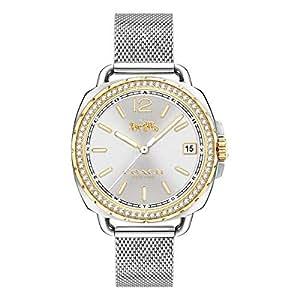 Coach Women's White Dial Mesh Band Watch - 14502804