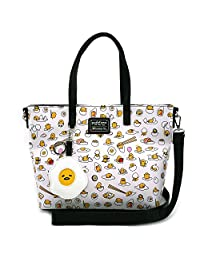 Loungefly X Gudetama Lazy Egg Tote Bag Shoulder Bag Purse Sanrio White N' Yellow