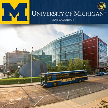 University of Michigan Wall Calendar by TF Publishing 2016