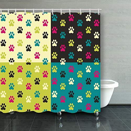 Yulian-ltd Fox Fur Lilac Dyed Dog Bathroom Shower Curtain 60