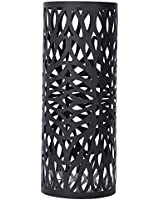 SONGMICS Umbrella Stand Rack Free Standing for Canes/Walking Sticks, with 2 Hooks, Black ULUC20B