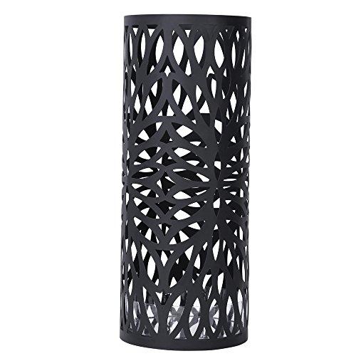 songmics umbrella stand rack free standing for caneswalking sticks 2 hooks black uluc20b - Indoor Umbrella Stand