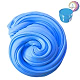 Fluffy Slime - 200g Fun Pack Scented Making Slime Toys for Children & Adults, Super Soft, Non-Sticky & Non-Toxic, Ideal Kids School Arts Crafts Projects Supplies by Wonder Space (Blue)